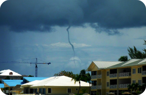 The super cool water spout we saw on our last day!